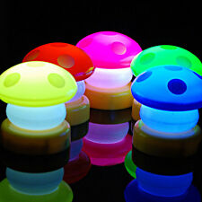 New Mini LED Mushroom Bedside Touch Lamp Night Light