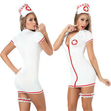 Ladies Sexy Naughty Nurse Fancy Dress Fun Party Hen Costume Valentines Womens