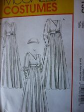 NEW McCALLS 5155 MEDIEVAL RENAISSANCE GOWN CAP SEWING DRESSMAKING PATTERN 16-22