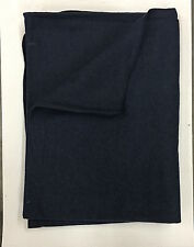 Wool Blanket - Civil War Reenactment, F&I, Rev War, Rendezvous - Dark Blue Color