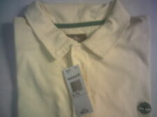 TIMBERLAND  MEN'S SHORT SLEEVE * STRIPE POLO SHIRT* CLR YELLOW/WHITE SZ XL