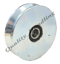Gate wheel pulley wheel 120mm V groove steel wheel, Double ball bearing, heavy