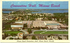 CPA USA ETATS-UNIS FLORIDA miami beach convention hall stamp 1965