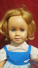 DARLING VINTAGE 1960s CHATTY CATHY DOLL IN BLUE DRESS