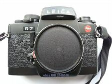 LEICA R7 BLACK 35mm BODY with front cap and Leica carrying strap