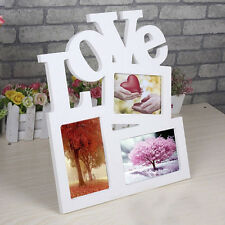 DIY Durable Hollow LOVE Wooden Photo Picture Frame Rahmen Decor For 3 Pictures