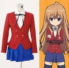 TIGER×DRAGON Aisaka Taiga Toradora Gal Uniform Cosplay Costume Custom new #964