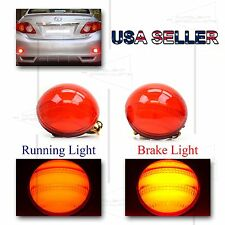 FOR 2009-2010 TOYOTA COROLLA REAR BUMPER 3D LED REFLECTOR BRAKE/PARK LIGHTS RED