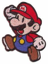 Super Mario 5.5cm x 7.5cm Logo Sew Ironed On Badge Embroidery Applique Patch