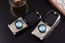 NEW fashion 760 Global Unlock Quad Band Dual SIM Card MP3 luxury car flip phone
