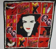 Lovely Ladies Graphic Lady Face Scarf, Paloma Picasso Perfume Theme