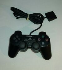 Genuine Sony PLAYSTATION 2 Black Dual Shock Analog Controller SCPH-10010 PS2