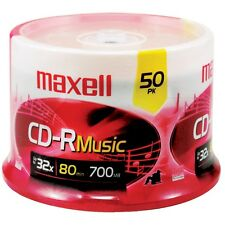 NEW Maxell 625156 - Cdr80mu50pk 80-minute Music Cd-rs (50-ct Spindle)