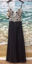 MacDuggal Women's Spaghetti Strap Prom Dress: Size 10: Black