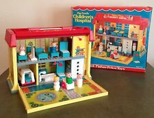 Vintage 1973 Fisher Price Little People Play Family Children's Hospital #931