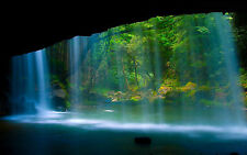 Cave & Waterfall Repositionable Color Wall Sticker Mural 22.5 x 36