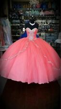 Pink Embroidery Quinceanera Dress Ball Gown For 15 Year Prom Party Dress Custom