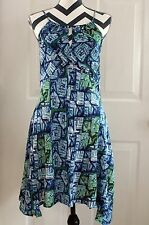 Forever 21 Blue-Green Dress S Small Adjustable Spaghetti Straps Asymmetrical Hem