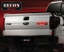 Recon 264284RD Illuminated Tailgate Emblem; Chrome;Red LED,For 09-14 Ford Raptor
