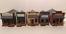 Nouveau 28mm old west ville lot de 5 prépeint kits.