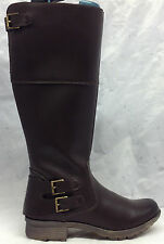 NEW Clarks Sz 9 M Women's Riddle Phrase Brown Riding Knee High Boots 26113540