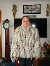 SZ  S - M ? BLUE  FOX FUR COAT IN GREAT CONDITION & SUPPLE