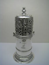STERLING SILVER SUGAR CASTER MUFFINEER Sir Wm.Crossman Crest London England 1890