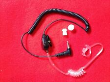 "Clear Tube 3.5mm Right Angle""Listen Only"" Security Headset w K-FLEX Ear Mold"