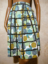 CHIC VINTAGE JUPE COTON ZAZOU 50s VTG SKIRT FIFTIES GONNA ANNI 50 RETRO (38)