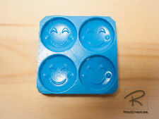 Blush/Dimples Emoji mini x 4 silicone Mould/mold. Sweet/chocolate/candle/cake