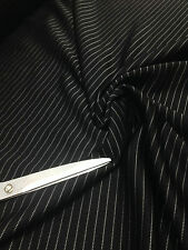 Smooth Black PinStripe Heavy Double Knit  StretchJersey Dress/Skirt/Craft Fabric