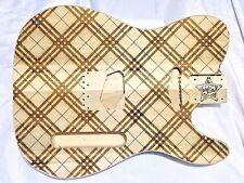 CUSTOM Walla Walla Guitar Company TELE Guitar Body Poplar Laser Etched PLAID