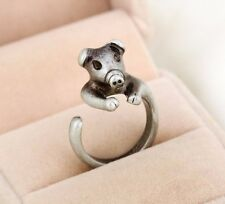 Lovely Pig Silver or Gold Adjustable Size 6-8 Ring Farm Animals Pet Retro Ring
