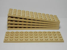 LEGO LEGOS -  Set of  6  NEW  4 x 12 Plates  TAN