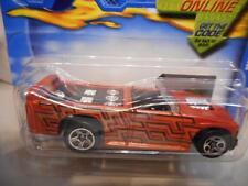 2001 Hot Wheels Mini Truck Orange #227 5SPs 1990 Black Base 1/64 Die Cast car B