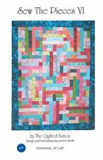 """Sew the Pieces VI Quilt Pattern, Jelly Roll 2.5"""" Strip Friendly, 52""""x66"""" Fin. Sz"""