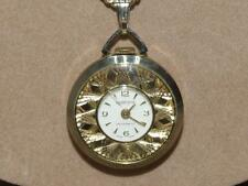 VTG Sperjna Ladies Silver & Goldtone Swiss Antimagnetic Pendant Watch Necklace