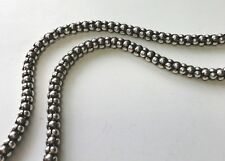 "New 18"" 5mm Mesh Chain Solid Sterling Silver 925 Necklace"