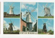Kentish Windmills Old Postcard  227a
