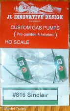 JL Innovative Design #816 Sinclair Gas Station Pumps (Painted w/Lables) 2 in pkg