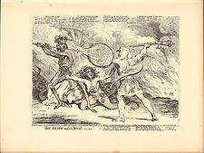 1873 James Gillray (el caricaturista) impresión. Pecado-la muerte y el Diablo!
