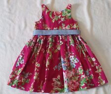 GIRLS SIZE 5 POLO RALPH LAUREN PINK MULTI FLORAL COTTON DRESS  NWT