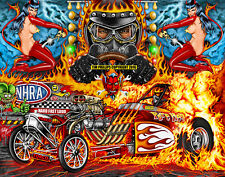 Rich Guasco's Pure Hell Hot Rod Drag Racing art print