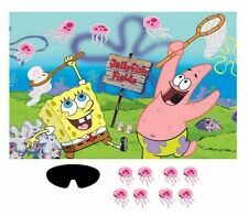 Sponge-Bob Birthday Party Game Help Sponge-Bob Place the Jelly Fish in the Net