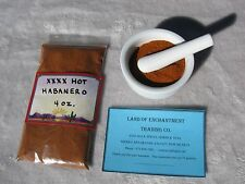 NEW MEXICO  XXXX HOT  HABANERO CHILE POWDER  4 ounces  Free USA Shipping