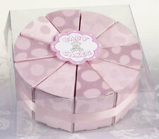 Set of 10 Baby Cake Boxes Baby Shower Favor Boxes - Blue, Pink, or Yellow