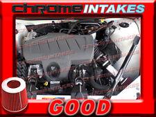 BLACK RED 04-08 PONTIAC GRAND PRIX GT1/2 GTP GXP 3.8L V6 5.3L V8 AIR INTAKE 3.5