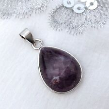 NEW AMETHYST DROP SHAPED PENDANT, HEALING GEMSTONE CRYSTAL, WELL BEING