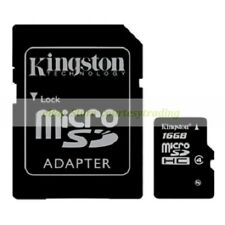 Kingston Micro SD HC 16GB 16G Class 4 C4 Flash Memory Card with Adapter New