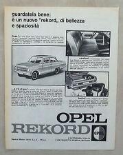 E280-Advertising Pubblicità-1963 - OPEL REKORD